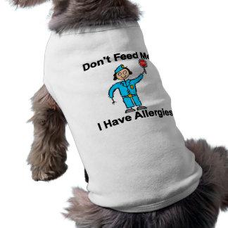 No me alimente que tengo alergias playera sin mangas para perro
