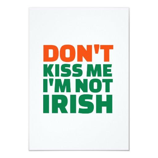 No me bese que no soy irlandés anuncio