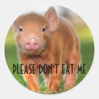 No me coma por favor pegatina redonda