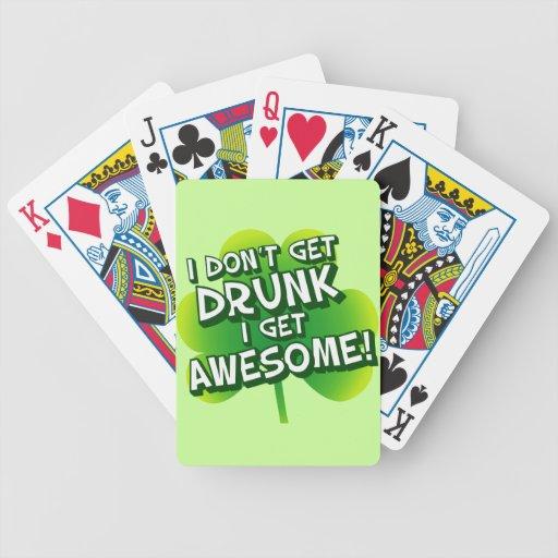 No me consigo bebido consigo impresionante baraja cartas de poker