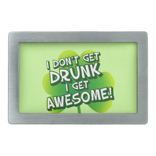 No me consigo bebido consigo impresionante hebillas de cinturón rectangulares