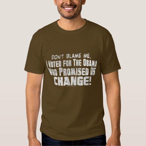 No me culpe camisa anti de Obama