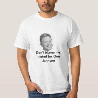 No me culpe camiseta de Gary Johnson