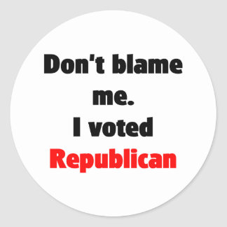 No me culpe pegatina (del republicano)