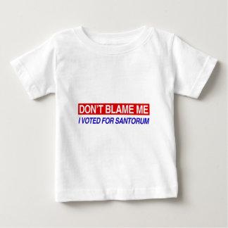 No me culpe playera para bebé