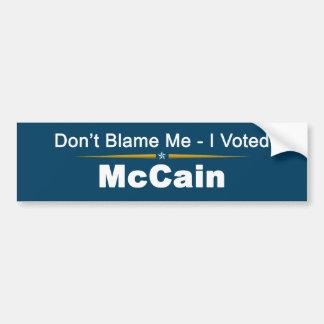 No me culpe que voté a la pegatina para el paracho pegatina de parachoque
