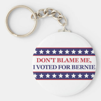 No me culpe que voté por Bernie Llavero Redondo Tipo Pin