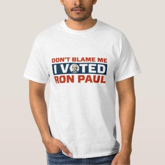 No me culpe que voté por el camisetas de Ron Paul Polera