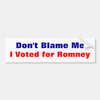 No me culpe que voté por la pegatina para el parac etiqueta de parachoque