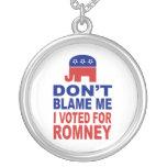 No me culpe que voté por Romney Collar