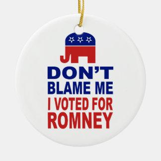 No me culpe que voté por Romney Ornato