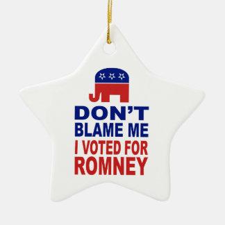 No me culpe que voté por Romney Adornos