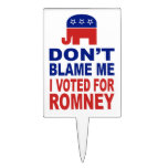 No me culpe que voté por Romney Figura De Tarta