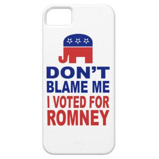 No me culpe que voté por Romney iPhone 5 Protector