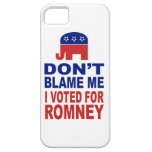 No me culpe que voté por Romney iPhone 5 Carcasa