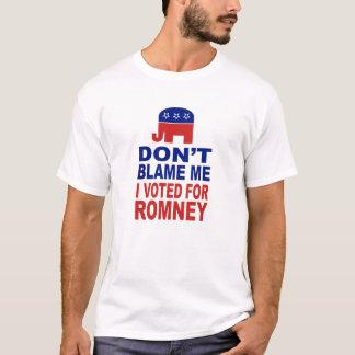 No me culpe que voté por Romney Playera