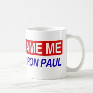 No me culpe que voté por Ron Paul Taza
