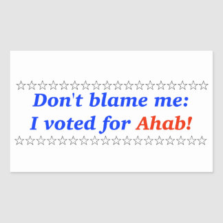 No me culpe: Voté por Ahab Rectangular Altavoz
