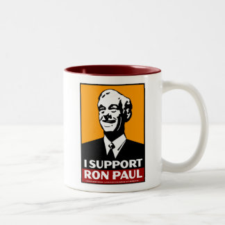 No me culpe. Voté por, Ron Paul Taza De Dos Tonos