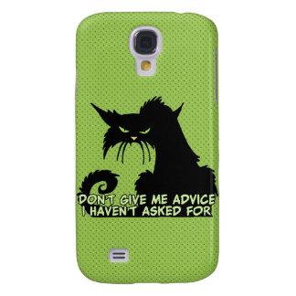 No me dé el consejo el decir enojado del gato funda para galaxy s4