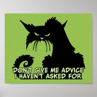 No me dé el consejo el decir enojado del gato impresiones