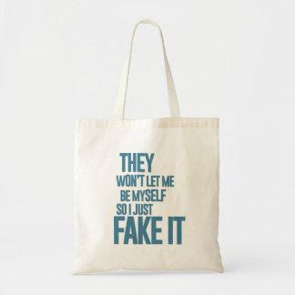 No me dejarán ser mismo, yo apenas lo falsifican bolsa de mano