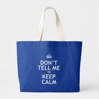 No me diga guardar calma bolsa de tela grande