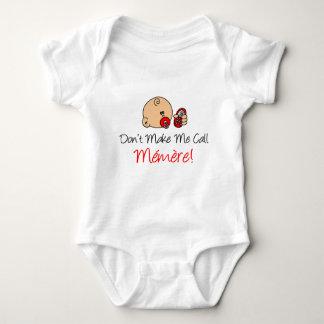 No me haga la llamada Memere Mameluco De Bebé