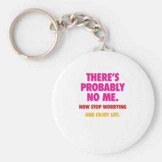 No me keychain