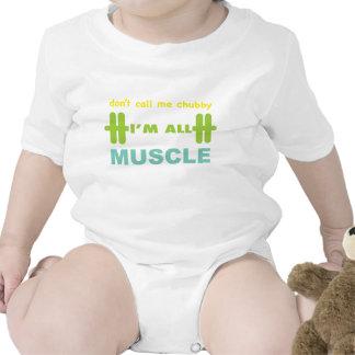 no me llame rechoncho me son todo el músculo traje de bebé