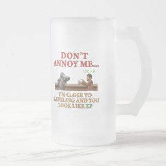 No me moleste jarra de cerveza esmerilada