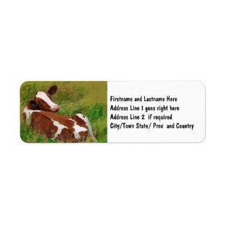 No me moleste vaca etiqueta de remite