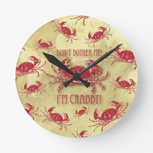 No me moleste, yo son modelo peculiar malhumorado  reloj redondo mediano