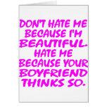 No me odie porque soy hermoso felicitación