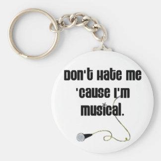 No me odie porque soy musical llavero redondo tipo pin