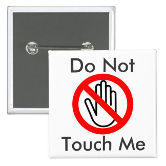 No me toque pin cuadrado