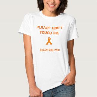 """""""No me toque por favor: Camiseta de RSD"""" Playera"""