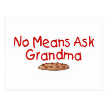 No Means Ask Grandma Postcard