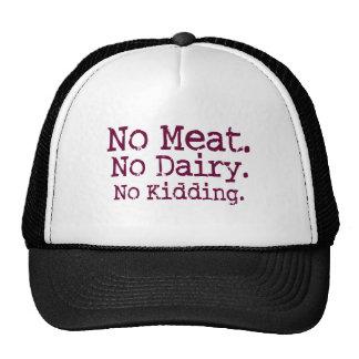 No Meat Vegan Message Hat