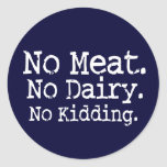 No Meat Vegan Message Swag Stickers