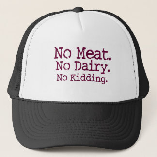 No Meat Vegan Message Trucker Hat