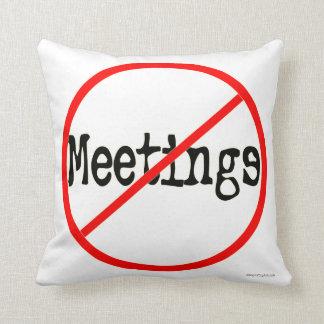 No Meeting Office Humor Saying Pillow
