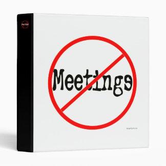 No Meetings Office Humor Avery Binder