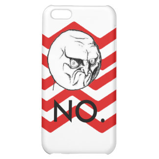 """NO."" meme cute red chevron Case For iPhone 5C"