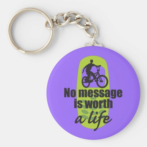 No Message is Worth a Life Basic Round Button Keychain