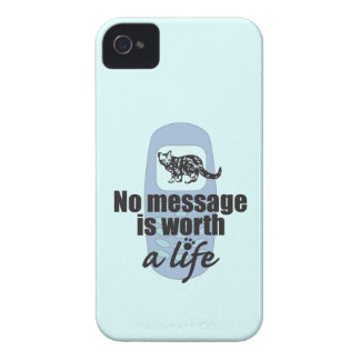 No Message is Worth a Life iPhone 4 Cover