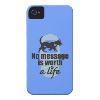 No Message is Worth a Life iPhone 4 Case-Mate Case