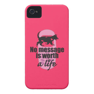 No Message is Worth a Life iPhone 4 Cases