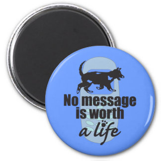 No Message is Worth a Life Fridge Magnet