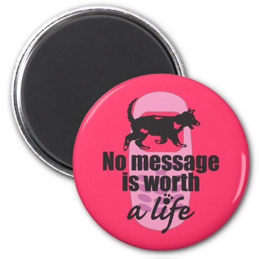 No Message is Worth a Life Magnet